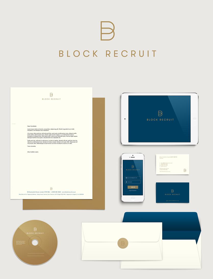 Block Recruit Brand Identity