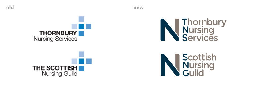 Thornbury Nursing Services and Scottish Nursing Guild rebrand by VGROUP